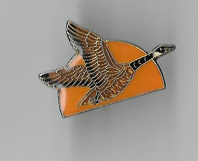 Vintage Flying Goose in Moonlight old enamel pin
