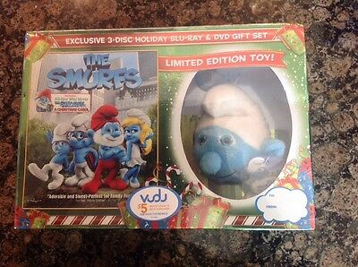 The Smurfs: Exclusive Holiday Gift Set - Limited Edition Toy(Blu-Ray/DVD)NEW