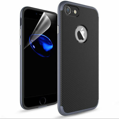 Luxury Rugged Shockproof TPU Rubber Bumper Case Cover For Apple iPhone 7 8 Plus