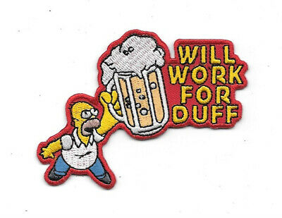 The Simpsons Homer Simpson Figure Will Work For Duff Beer Embroidered Patch NEW