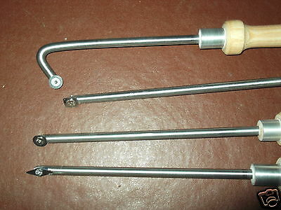 set 4 carbide woodturning chisels best since woodturning tools were introduced