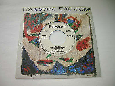 "The Cure /Lovesong -7""megarare promo italy PolyGram 1989 Polydor Fiction Records"