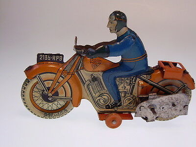 "GSMOTO  ""SFA MOTO/MOTORRAD"" PARIS, 16cm, WIND UP, MINIMAL BESPIELT/USED !"