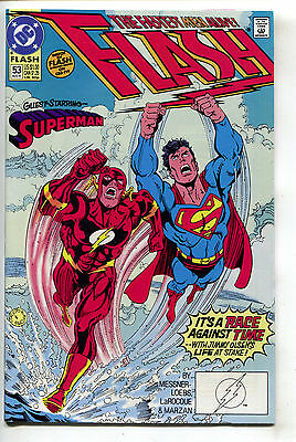 Flash 53 2nd Series DC 1991 NM Superman Race Pied Piper Gay Comes Out LGBT