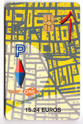 Piaf Parking Carte / Card .. Parkeon Chip-One 15€24 N° 09400 Chip/puce