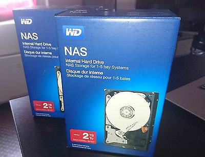 """Lot de 2 Disques dur 2To 3,5"""" Western Digital WD RED NAS = 4To, 2x WD20EFRX NEUF"""