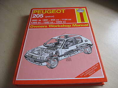 Peugeot 205 Haynes Owners Workshop Manual petrol 1983-1991. ONE OWNER FROM NEW