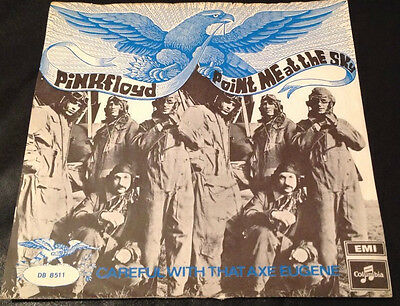 """RARE 1968 DUTCH 7"""" Point Me At The Sky THE PINK FLOYD w CENTRE! SYD BARRETT"""
