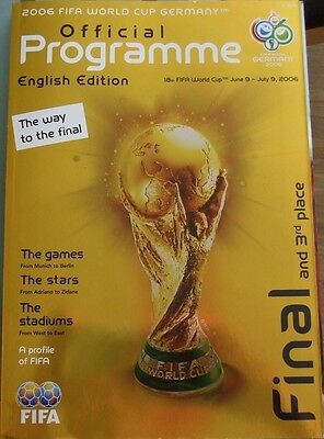 World Cup Final Programme 2006  English Edition