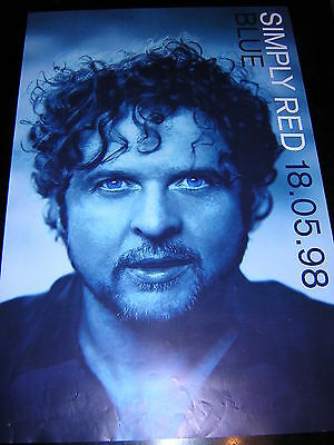 Original Simply Red Promotional Poster - Blue