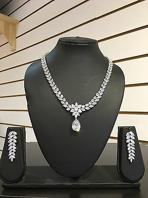 Diamond Element Necklace And Earring Set - Party - Bling- Stunning-wedding-UK
