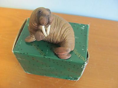 Living Stone Collectible Brown Walrus Figurine 3 Inches Long