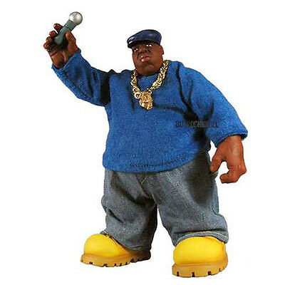 "Notorious B.I.G Collectors: 2006 Mezco Toyz Biggie Smalls Blue Shirt 9"" Figure"