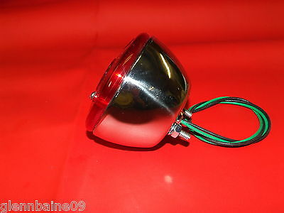 "Vintage  Minibike,   STAINLESS  STEEL 3 3/4"" TAIL LIGHT NOS. , with out tag ligh"