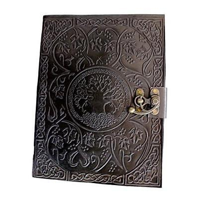 FREE 2 DAY SHIPPING: Handmadecraft Large Tree of Life Leather Journal Diary