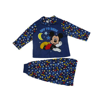 Licensed Baby Boy Mickey Mouse Flannel PJ's - Free Postage