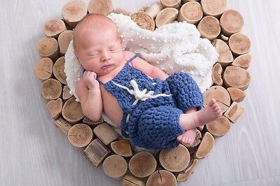 photography prop baby dungarees newborn size