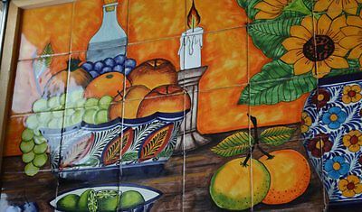 35 pieces Mexican Tile Wall Mural