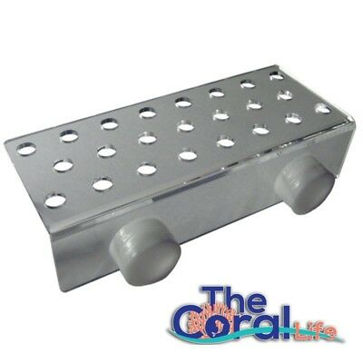 Sea Side Aquatics Large Magnet Frag Rack - Clear - Holds Up To 23 Plugs