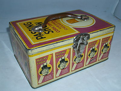 Passing Show Cigarette Tobacco Vintage  Advertising Tin Lunch Pail  758-L