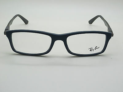 NEW Authentic Ray Ban RB 7017 5260 Matte Navy Blue/Grey 56mm RX Eyeglasses