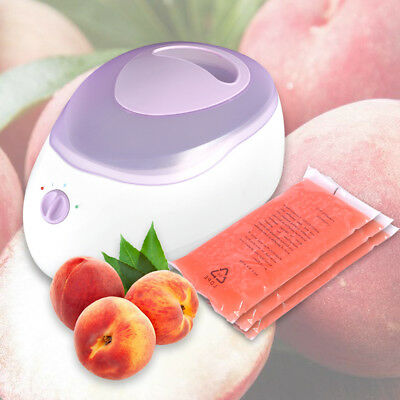 Kit 4L Paraffin Wax Bath Heater Warmer +Brush+Booties+Mitts+50Bag+ 450gX3 PEACH