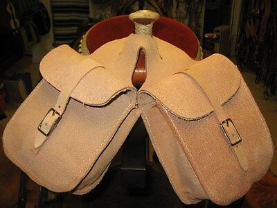 New Used Tack horn Bags saddle bags leather rough out Western hunter hunting