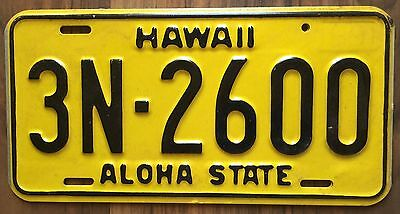 1969 Yellow Authentic Retro Hawaii Passenger Mint Unused License Plate 3N-2600