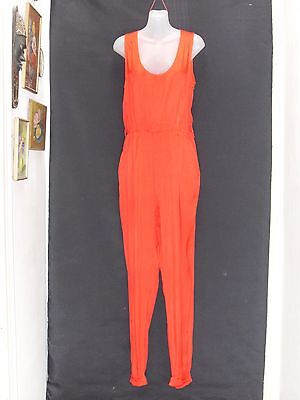1980's Vintage Sleeveless Jumpsuit with Tapered Legs.