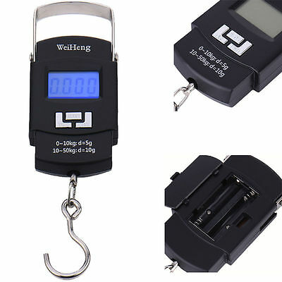 50kg/10g Portable Electronic Hanging Fishing Digital Pocket Weight Hook Scale