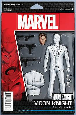 Moon Knight 1 Action Figure variant cover Marvel re-launch series new