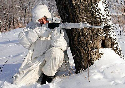 Russian Sniper Snow White Camouflage Clothes Suit Winter hunting. Made in USSR