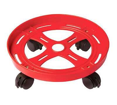 Doyours Red KItchen Gas Cylinder Plastic Trolley Stand Anti Skid Locks Wheel