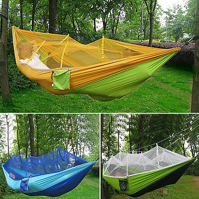 Mosquito Net Parachute Hammocks Jungle Camping Outdoor Travel Hanging Swing Bed