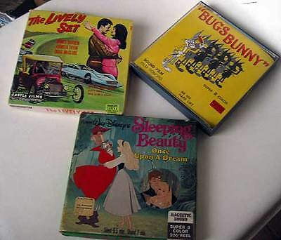 Super 8 Color Film Movies Bugs Bunny Sleeping Beauty