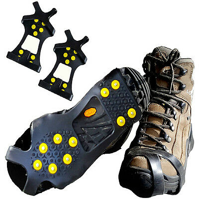 US Ice Traction Cleat for Winter with 10 Steel Studs Anti Slipping S M L XL Size