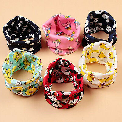 Baby Scarf Cotton Cartoon Children Kerchief Autumn Winter Kids Warm Neck Scarves