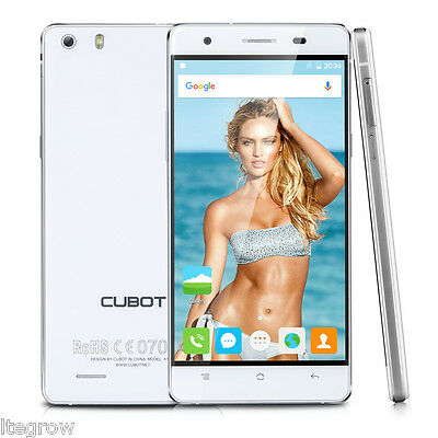 "5,0"" Cubot X16S 4G LTE HD Smartphone Android 6.0 Quad-Core 16GB/3GB 13MP Bianco"