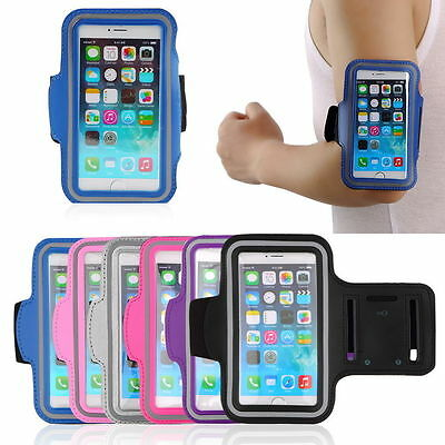 Jogging Gym Armband Sports Running Arm Band Case Cover Bag For Huawei Samsung