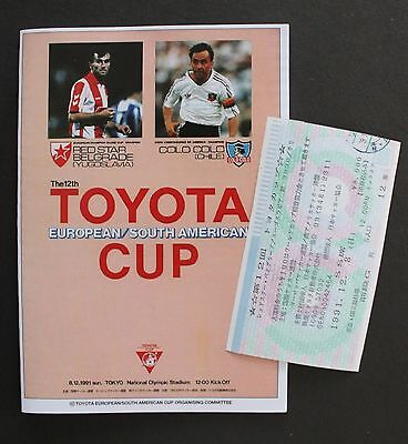 1991 Toyota Cup Replica Programme & Ticket Red Star V Colo Colo
