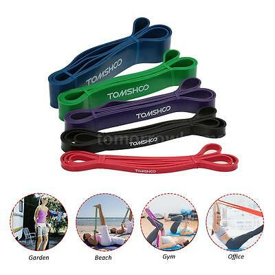 Heavy Duty Resistance Band Loop Power Gym Fitness Exercise Yoga Workout Hot K0J6
