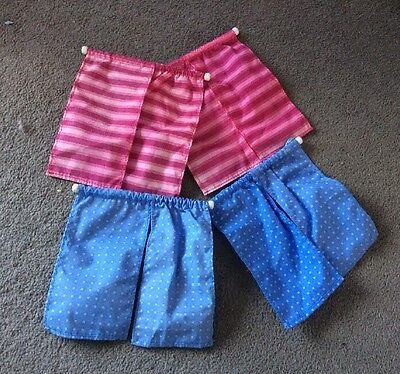 dolls house curtains 2 Pairs Blue And Pink