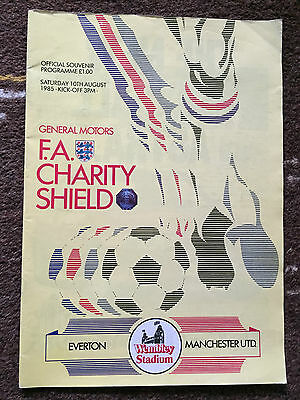 1985 Charity Shield : Everton v Manchester United 10th August 1985