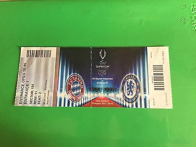 Ticket Bayern Munchen - Chelsea  Uefa Final Supercup 2013 Prague