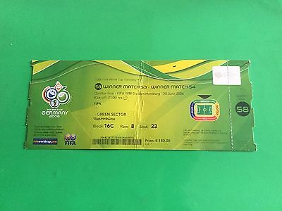 Biglietto Ticket Italia - Ucraina Mondiali Germania 2006 World Cup N. 58