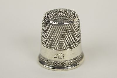 Antique Simons Bros. Sterling Silver Thimble  Size 11