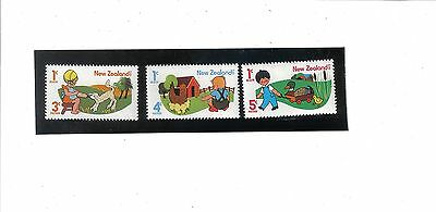 SG 1079-1081.New Zealand.Children with animals.Health Stamps x3.Issued 1975