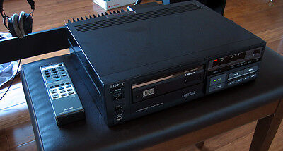 Used Vintage Sony CDP-101 Audio Compact Disc CD Player with Remote Control RM101