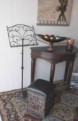 Tuscan Scrolling Wrought Iron Decorative Music Stand