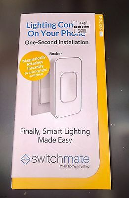 Switchmate Home One Second Smart Home Rocker Light Switch, RSM001W